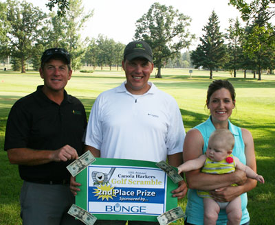 Golf Scramble 2012 2nd place