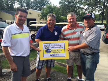 Golf Scramble 2015 1st place