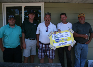 Golf Scramble 2016 1st place