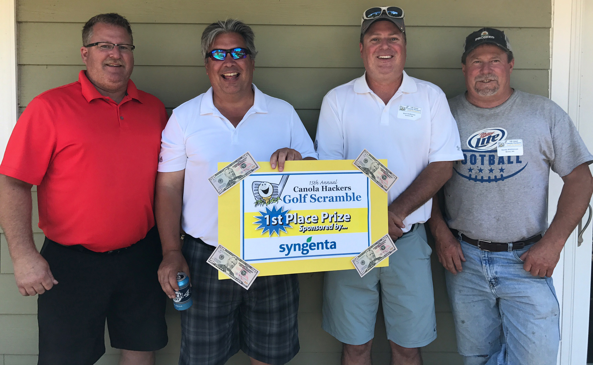 Golf Scramble 2017 1st place