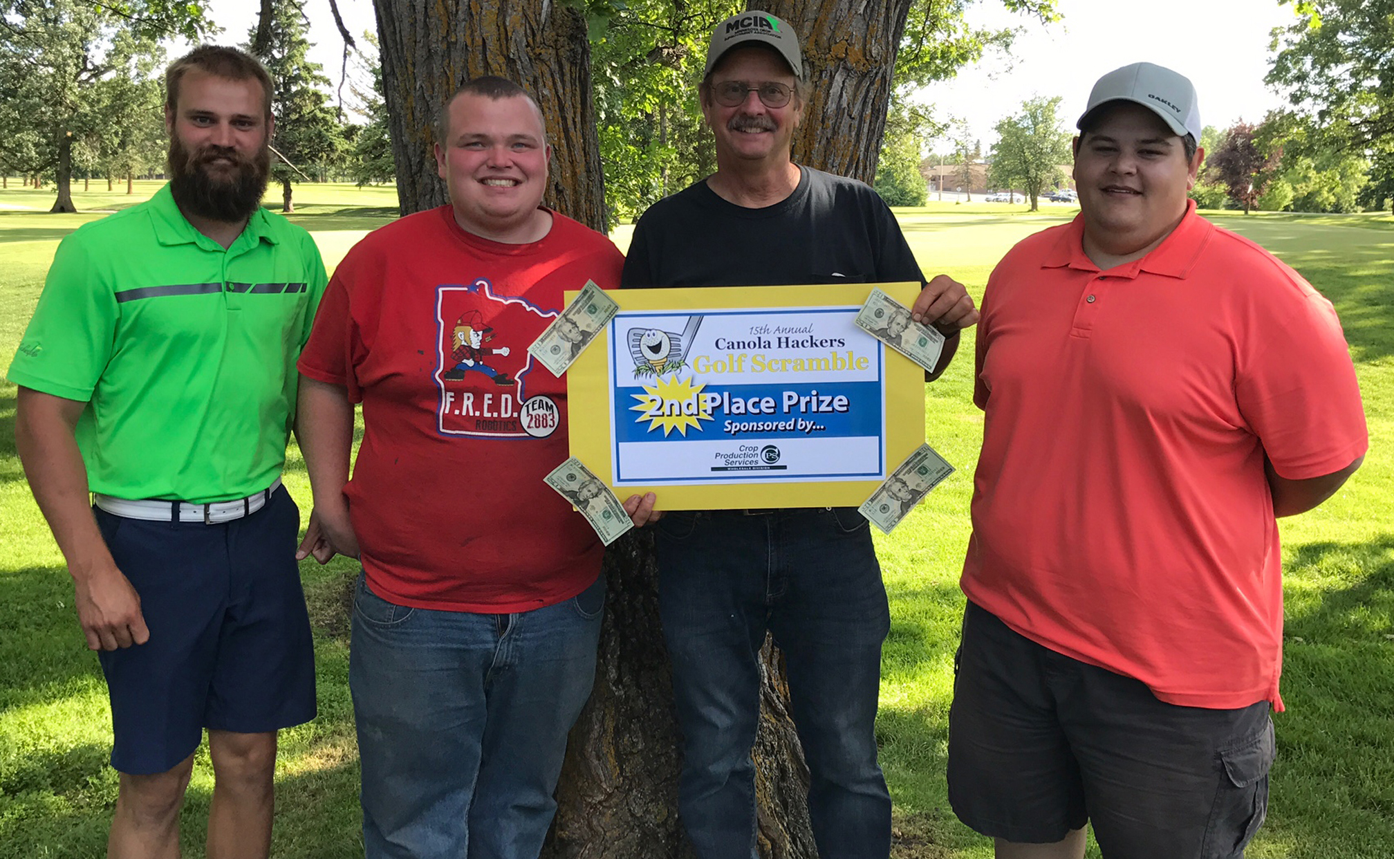 Golf Scramble 2017 2nd place